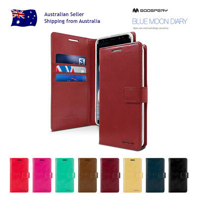 iPhone X Mercury Goospery PU Leather Card Shockproof Wallet Jelly Gel Case Cover