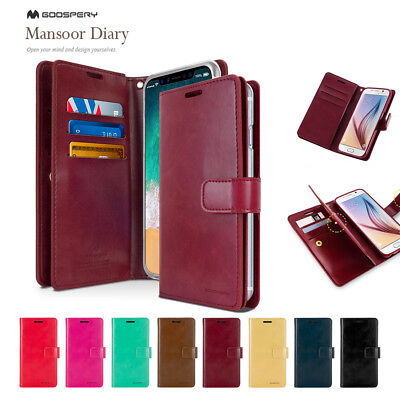 iPhone X Mercury Goospery PU Leather Card Luxury Wallet Rubber Jelly Case Cover