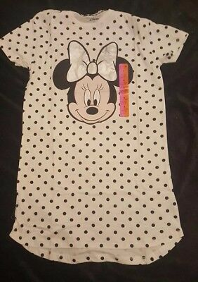 Primark Ladies Disney Minnie Mouse Nightdress Nightie Nightshirt Long Pyjama Top