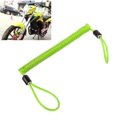 Motorcycle Security Alarm Disc Lock Spring Reminder Cable Bike Scooter 150cm