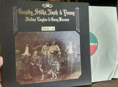CROSBY STILLS NASH & NEIL YOUNG Deja Vu ATLANTIC 1st Pressing Gatefold LP b39