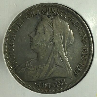 Great Britain 1898 Crown Silver Coin