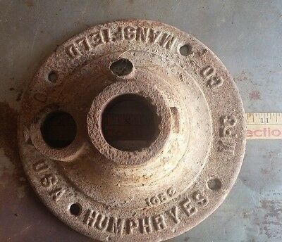 Antique cast iron well water pump base - Humphreys Mfg Co Mansfield Oh *** $ CUT