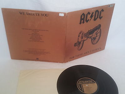 """Ac Dc - """"for Those About To Rock"""" - 1981 Collectible Lp - Atlantic Sd-11111"""