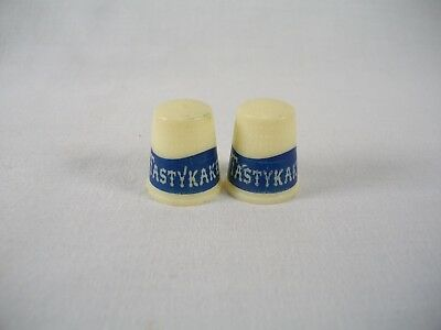 Vtg 1970's 80's Tasty Cakes Advertising Premium Lot Of 2 Sewing Thimbles