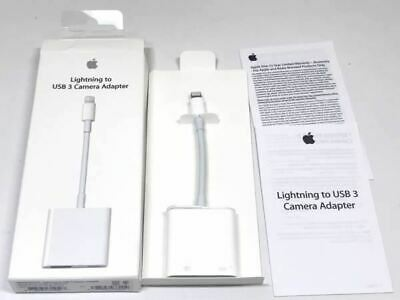 Authentic OEM Apple Lightning to USB3 Camera Adapter IPAD IPHONE MK0W2AM/A NOB