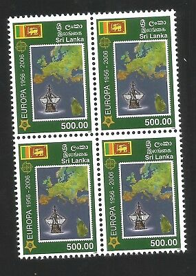 SRI LANKA 50 YEARS EUROPA 2006 Block of 4  MNH