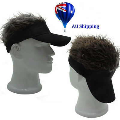 Fashion Unique Toupee Wig Baseball Hat Hook with Loop Adjustable Sun Visor Cap M