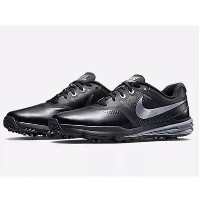 68767cfc8f04 NEW Nike Lunar Command Men s Golf Shoes SIZE 8 Medium Black Silver 704427 -001