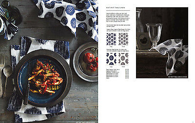 NEW Aura Ikat Spot Table Runner in Smoke colour, Hand screen printed