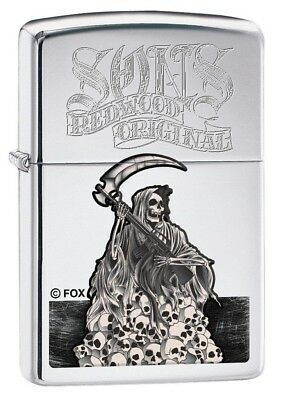 Zippo 7991 Sons of Anarchy Reaper High Polish Chrome Finish Full Size Lighter