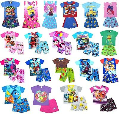 NEW Sz 2=16 KIDS SUMMER PYJAMAS BOYS OUTFITS TEES PJS SLEEPWEAR NIGHTIE T-SHIRTS