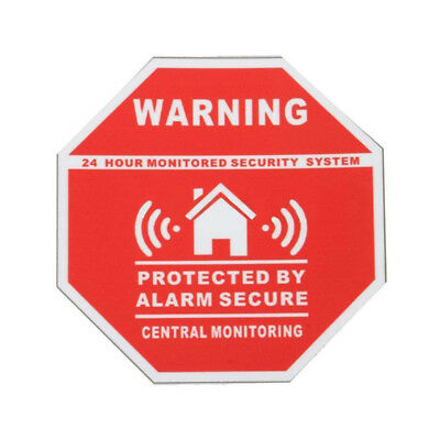 5Pcs Home Saftey Alarm Security System Warning Sign Sticker Window Decal