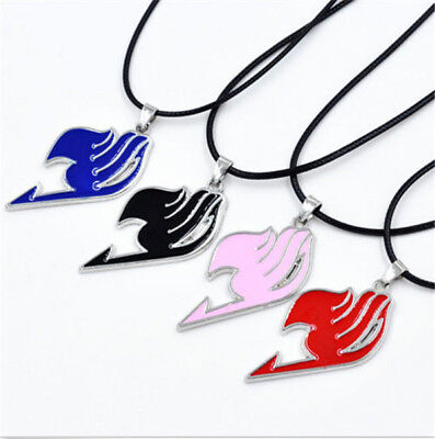 4 Colors Japanese Anime Fairy Tail Natsu Dragneel Figure Guild Pendant Necklace