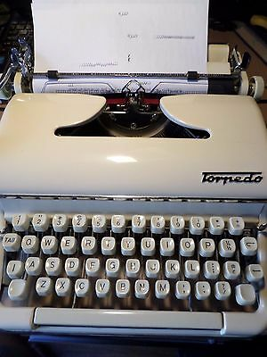 Vintage  Torpedo no 18  manual portable TYPEWRITER  Working cursive Keyboard ?