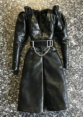 Fashion Royalty Kiss You In Paris Black Jolie Faux Leather Doll Dress With Belt