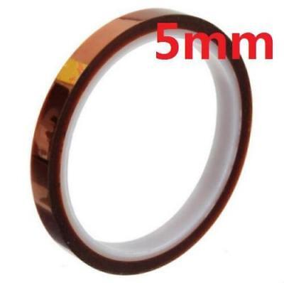 5mm 100ft Kapton Tape BGA High Temperature Heat Resistant Polyimide Gold ^