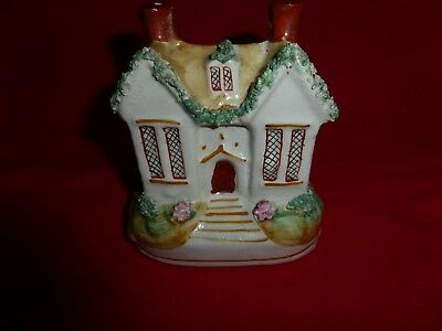 Antique Staffordshire cottage - looks like a money box (12 cm high)