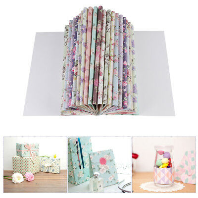 24 Sheets Waterproof Floral Craft Wrapping Paper Book For Presents/Gifts/Books