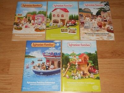 5x Sylvanian Families Pamphlets Catalogue Magazines Showcasing Figures Playsets