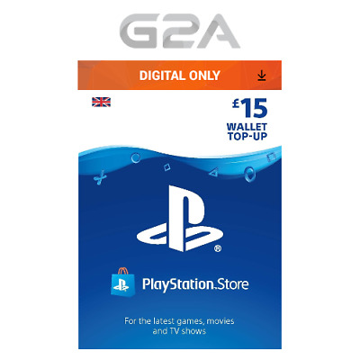 Playstation Network £15 Card - PSN 15 GBP UK Store Key / PS4 PS3 PSP - 15 Pounds