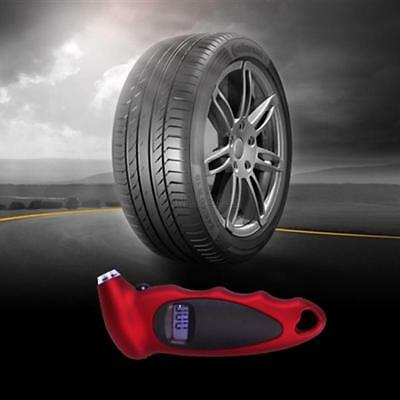 LCD Digital Tire Tyre Air Pressure Gauge Tester Tool Red For Car Auto Motorcycle