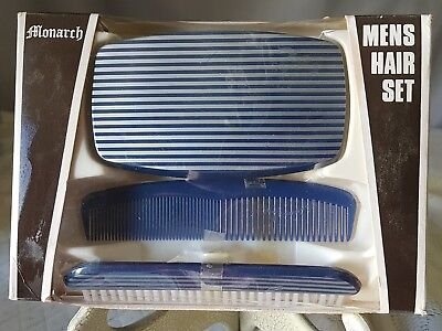 Vintage Circa 1960's Men's Hair Set By Monarch Of England.  Never Used.  Nib