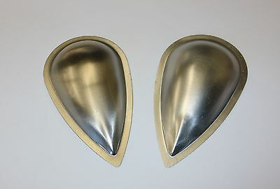 Pair, Vintage Style, Aluminum Aircraft Blisters, Bumps for Cowlings, Tear Drops