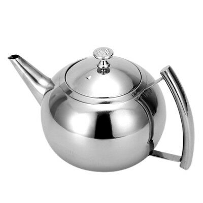 2000ML Stainless Steel Teapot Tea Pot Coffee With Tea Leaf Filter Infuser V6P9