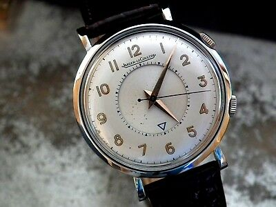 Stunning 1950's Large Size (35 mm) Jaeger le Coultre Memovox Gents Vintage Watch