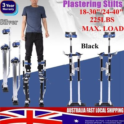 "18-30""/24-40"" Plastering Stilts Drywall Aluminum Tools Builders Painter 2 Colors"