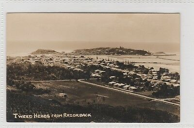 VINTAGE POSTCARD    TWEED HEADS FROM RAZOR BACK NSW 1900s RPPC