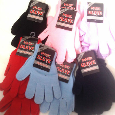 LADIES MAGIC Gloves Super Soft Girls Winter Clothing Thermal Stretchable Warm UK