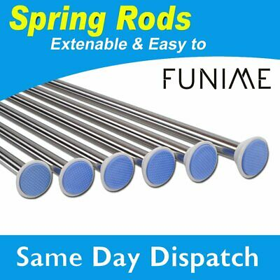 70-300cm Stainless Spring Extendable Net Curtain Tension Rod Pole Rail φ22.2mm