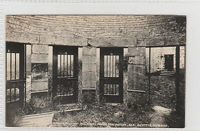 VINTAGE POSTCARD  EXCERCISE YARDS PORT ARTHUR PRISON BEATTIE STUDIO 1900s