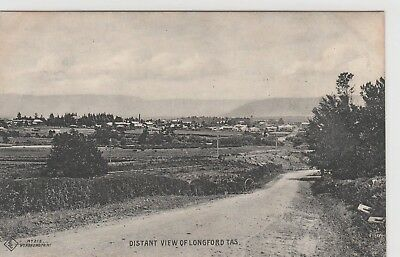 VINTAGE POSTCARD A DISTANT VIEW OF LONGFORD TASMANIA  1900s