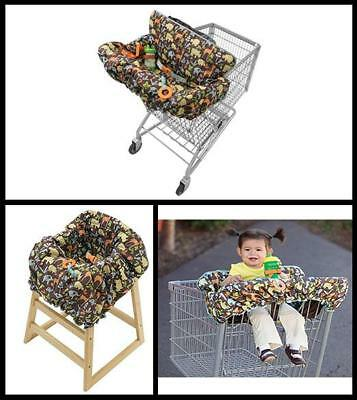 Compact Portable Shopping Cart Cover Seat Baby Toddler 2 in 1 NEW Free Shipping