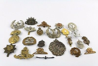 Collection of Vintage W.W.I On wards Military Badges INC Cap, Collar & Sleeve