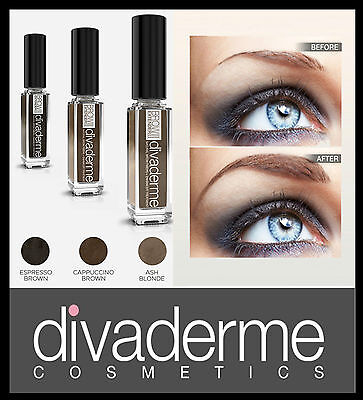 (376,67/100ml) Divaderme Brow Extensor II Cejas Color +Volumen +CUIDADO 9ml