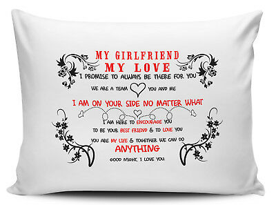 My Girlfriend My Love I Promise To Always Be There For You Novelty Pillow Case