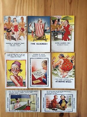 Bamforth Comic Postcards X 8