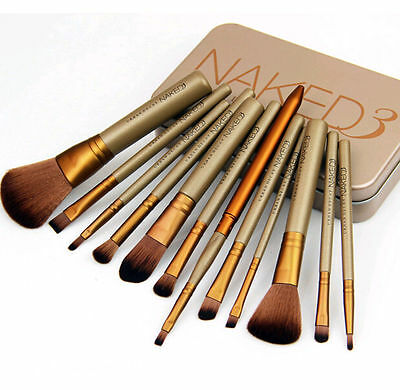 Pro 12pcs Makeup Cosmetic Eyeshadow Brushes Set Powder Foundation Lip Brush Tool
