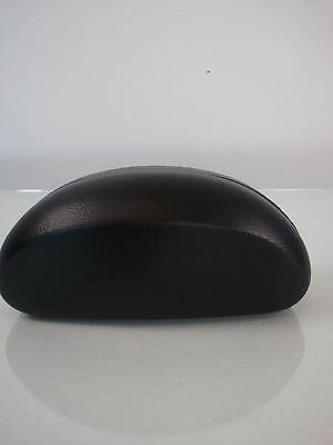 Hard Sunglass Eyeglass Case Clamshell Black with FREE purple Cleaning Cloth