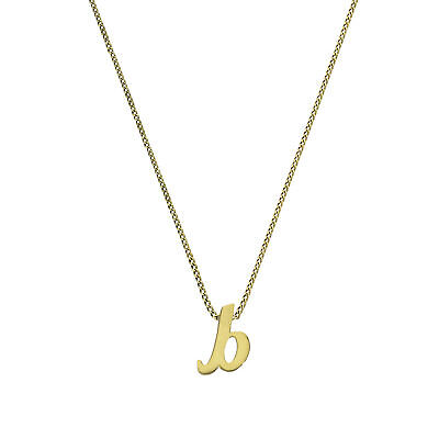 Tiny 9ct Gold Alphabet Letter B Pendant on Chain 16 - 20 Inches Name Initial