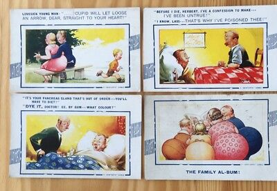 Bamforth Comic Postcards X 4