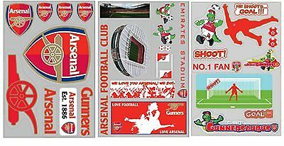 Official Arsenal FC Football Self-Adhesive Wall Stickers Art Borders Removable