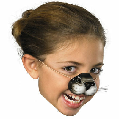 Kids BLACK CAT NOSE Kitty Latex Rubber Animal Costume Mask Toy Funny Face Felix