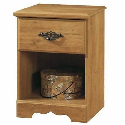 South Shore Furniture Prairie Collection, Night Table with open case, Country Pi
