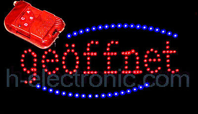 LED Open Shield NEON SIGN OPEN SIGNS XXL Blink Subway Animation