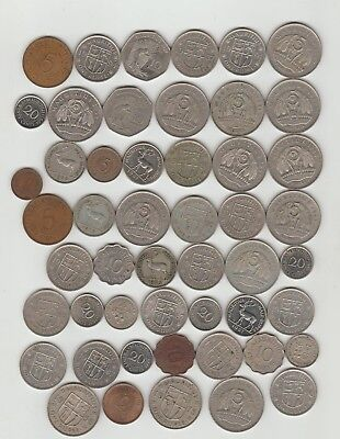 Mauritius,Lot of 50 Coins (an6)